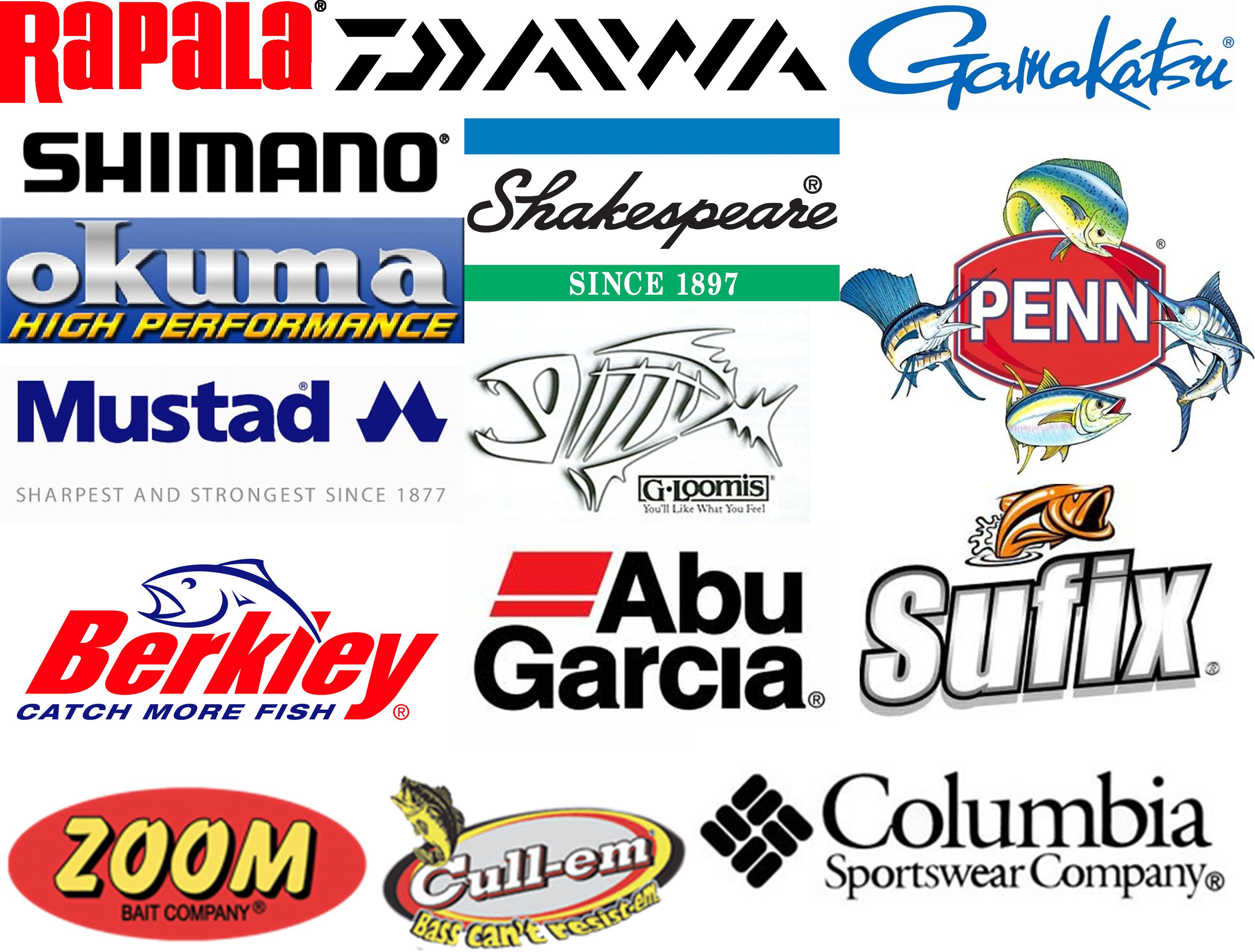 fishing tackle brands